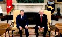 Encuentro bilateral entre Juan Manuel Santos y Donald Trump.