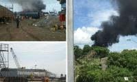 Imagenes al momento de la explosión.