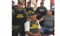 El ganadero rescatado en Riohacha donde fue recibido por sus familiares.