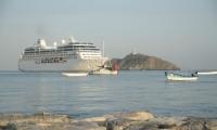 Pacific Princess el décimo sexto crucero turístico que arriba en Santa Marta en el 2017.