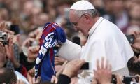 Hinchada busca que el Papa Francisco le dé la bendición al Unión Magdalena aprovechando su visita al país este año.
