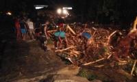 Aspecto de la emergencia en Bahía Solano (Chocó) presentada desde esta madrugada.