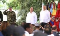 El ministro de Defensa asistió este jueves a la Quinta de San Pedro Alejandrino, a la rendición de cuentas de 2016 y primer semestre de 2017.