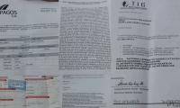 Documentos enviados por correos a la víctimas.