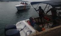 Pescadores náufragos fue rescatados por la Armada Nacional.