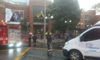 Las autoridades evacuaron el lugar.