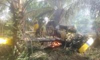 El piloto era el único tripulante, resultó lesionado con algunas quemaduras y fue trasladado a Ciénaga donde recibe atención médica.