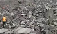 46 viviendas fueron sepultadas.