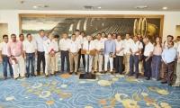 Los gobernadores de la región Caribe luego del Ocadtón con el presidente Juan Manuel Santos.