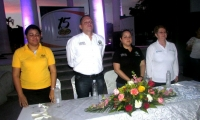 Alcalde Pérez rodeado con los aliados estratégicos del proyecto: Prodeco y Fundepalma