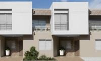 Fachada de una de las 86 casas del conjunto cerrado Villas de Andalucía.