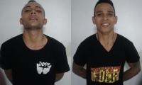 Cristian David Retamozo Acosta, y Jhon Henry Linero Narváez, capturado.