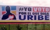 Valla instalada en Montería.