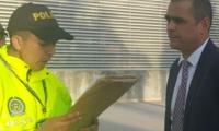 Lectura de cargos al contralor en su captura.