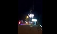 En video quedó grabado el momento en que el transformador se sobrecargó.
