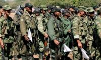 Imagen de un grupo de exguerrilleros de las FARC.