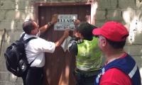 La vivienda fue sellada por las autoridades.