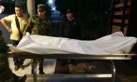 El cadáver de uno de los presuntos guerrilleros del ELN dados de baja en el Cesar. F