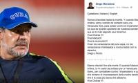 Diego Maradona apoya el régimen  de Nicolás Maduro en Venezuela