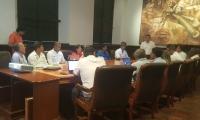 Autoridades durante la mesa técnica realizada para discutir obras de la Ruta del II.