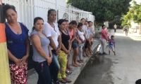 Mujeres del barrio Alto Tayrona.