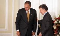 Santos envió mensaje de condolencias al Vicepresidente Naranjo.