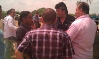 Reunión política con Sergio Díaz Granados en Nueva Granada. Eric, de camisa rosada, aparece en la foto acompañando al congresista.