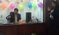Foto tomada por Eric Tovio cuando celebraban un cumpleaños del congresista Fabián Castillo.