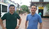 Izquierda Pedro Fuentes, derecha Javier Diaslara