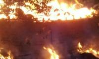 Incendio de centro ceremonial indígenena.