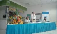 Los resultados del estudios fueron socializados en las instalaciones de Puerto Nuevo. En la mesa funcionarios de Prodeco e Invemar.