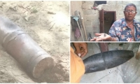Una granada de alto poder (izquierda) cayó activada en el barrio Manzanares.