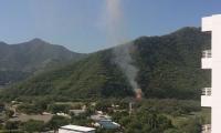 imagen de las explosiones.