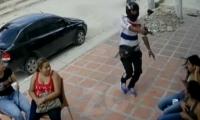 Jóvenes empresarios se quejan de la inseguridad en el barrio San Antonio de Soledad.