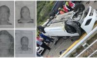 Cuatro mujeres que resultaron heridas en el accidente del Ziruma.