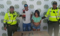 Karen Andrea Aguilar Torregrosa y César Augusto Ibáñez Lario cuando fueron capturados el 11 de marzo.