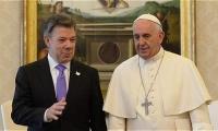 Juan Manuel Santos y Papa Francisco