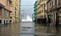 Calle de La Habana, Cuba, después del paso de Irma