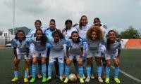 Independiente Santa Marta antes de un partido de la fase grupos
