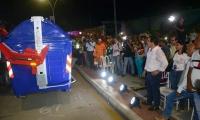Durante el evento fue realizada una muestra de cómo funcionan los contenedores.