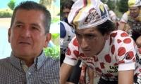 Lucho Herrera, gloria del ciclismo en Colombia.