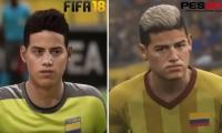 James Rodríguez en FIFA18 y PES 2018