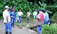 Visita a la vía ubicada en el sector El Martillo.