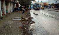 Las huellas de las aguas negras en Santa Marta.