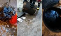 En los colectores se hallaron troncos, piedras, grasa, plástico y piezas de vehículos.