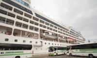 Este miércoles llegó el crucero Pacific Princess el primer del 2018.