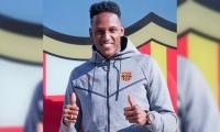 Yerry Mina, nuevo jugador del Barcelona.