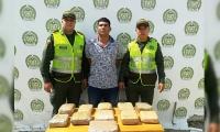 Guillermo Elías Orrego, detenido con marihuana en la terminal de Santa Marta.