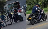 Ladrones intentan robar a mujer.
