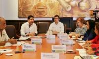 En la sala de juntas del Claustro San Juan Nepomuceno se realizó la primera sesión del Consejo Superior de la Universidad del Magdalena.
